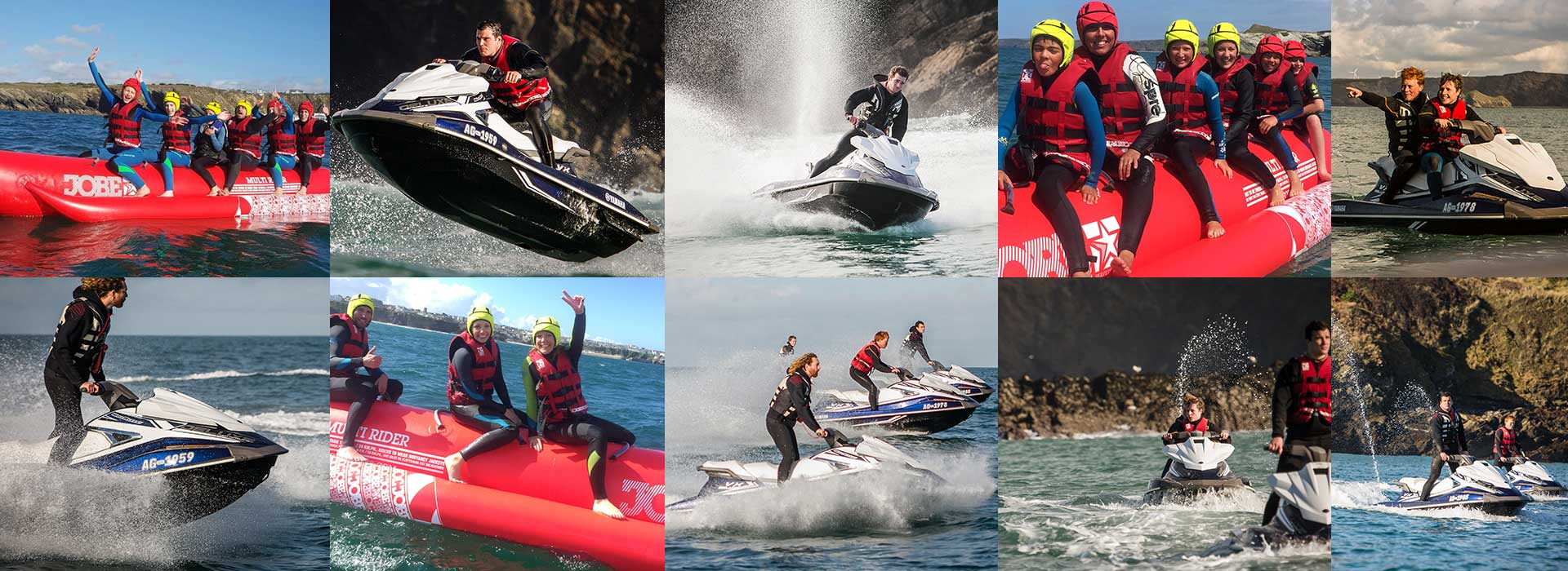 Water sports packages Newquay jet ski surfing banana boating