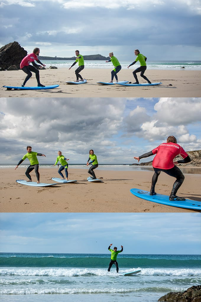 Newquay Surf Lessons At Lust Glaze Beach
