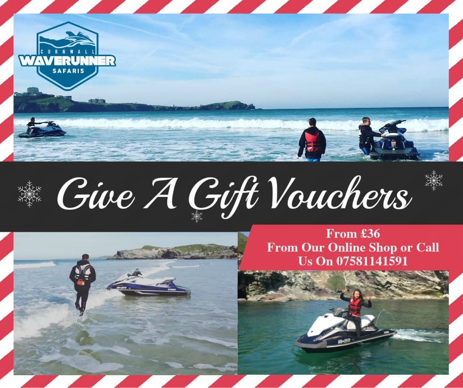 jet ski gift vouchers and christmas present ideas