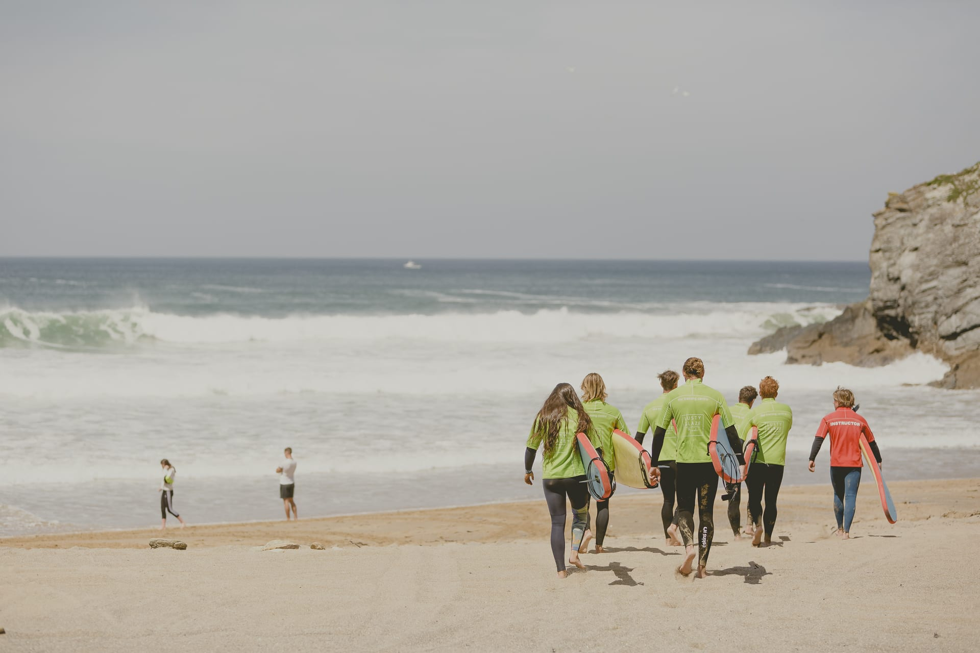 Group Surf Lessons At Lusty Glaze Beach Newquay