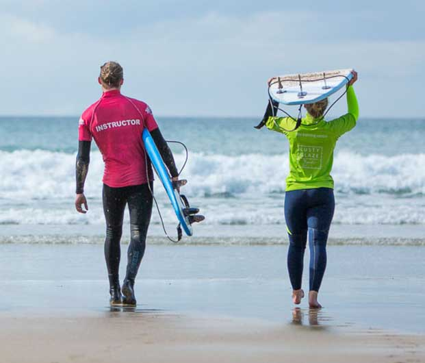 Private Surf Lessons At Lusty Glaze Beach In Newquay